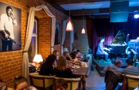 Moscow, MaW exhibition opening at Jazz Club ECCE