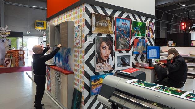 Dizajn a realizácia stánku Canon na výstave Polygraf 2015