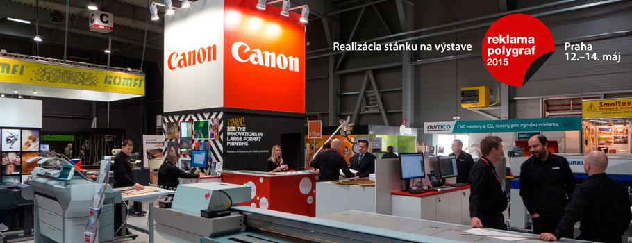 Canon realizácia stánku na výstave Polygraf 2015