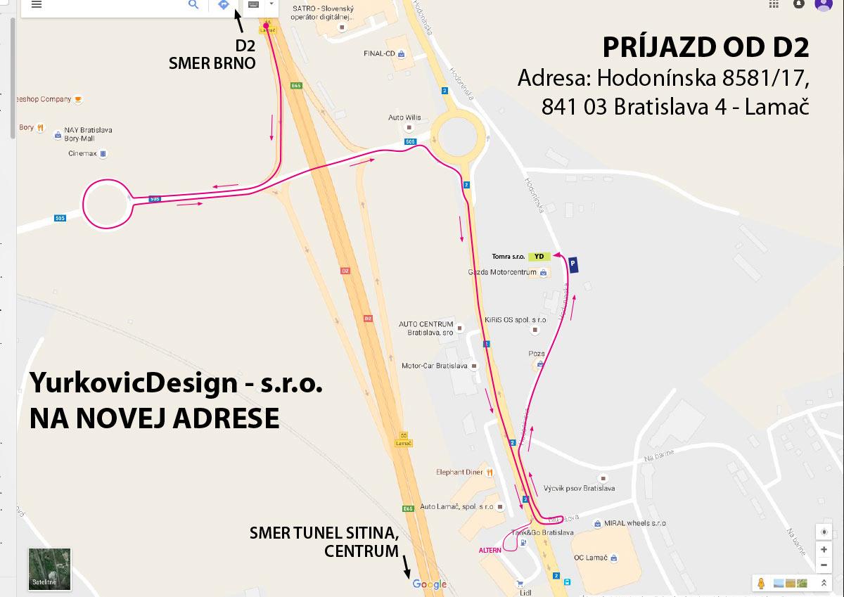 yurkovic design presťahovaný do Lamača, na Hodonínska 17